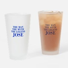 The Man Myth Legend JOSE-bod blue Drinking Glass
