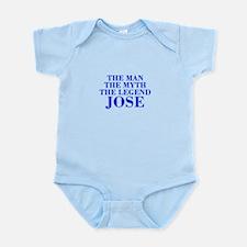 The Man Myth Legend JOSE-bod blue Body Suit