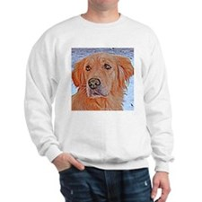 GOLDEN RETRIEVER AT WINTER PORTRAIT Sweatshirt