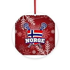 Norway Norge Lacrosse Jule Ornament (Round)