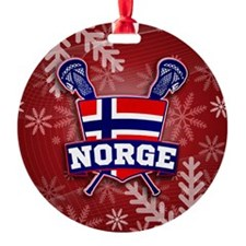 Norway Norge Lacrosse Jule Ornament