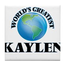 World's Greatest Kaylen Tile Coaster