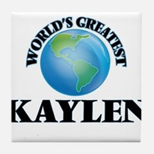 World's Greatest Kaylen Tile Coaster