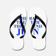 The Man Myth Legend JUAN-bod blue Flip Flops