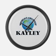 World's Greatest Kayley Large Wall Clock