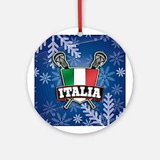 Italy Italia Natale Lacrosse Ornament (Round)