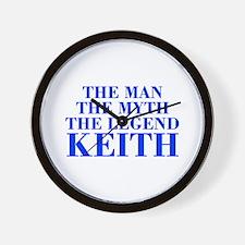 The Man Myth Legend KEITH-bod blue Wall Clock