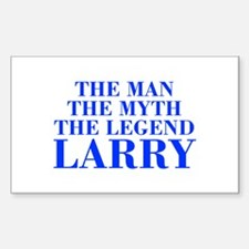The Man Myth Legend LARRY-bod blue Decal