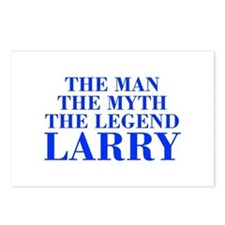 The Man Myth Legend LARRY-bod blue Postcards (Pack