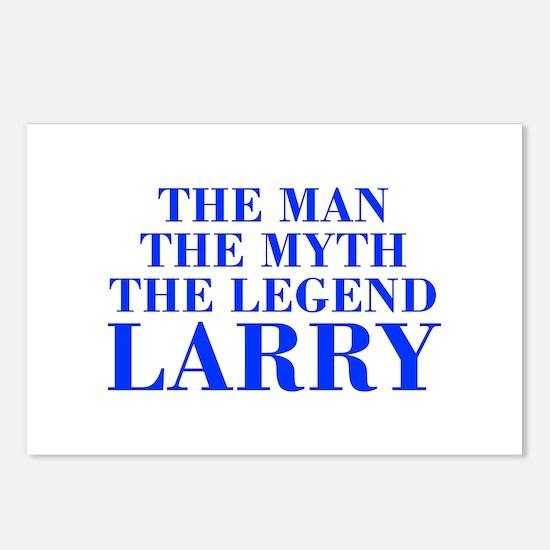 The Man Myth Legend LARRY-bod blue Postcards (Pack