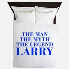 The Man Myth Legend LARRY-bod blue Queen Duvet