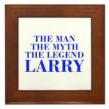 The Man Myth Legend LARRY-bod blue Framed Tile