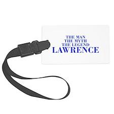 The Man Myth Legend LAWRENCE-bod blue Luggage Tag