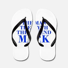 The Man Myth Legend MARK-bod blue Flip Flops