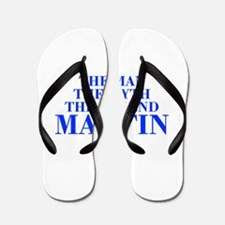 The Man Myth Legend MARTIN-bod blue Flip Flops