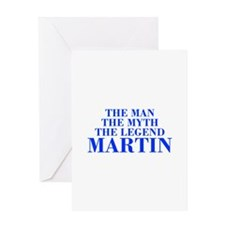 The Man Myth Legend MARTIN-bod blue Greeting Cards