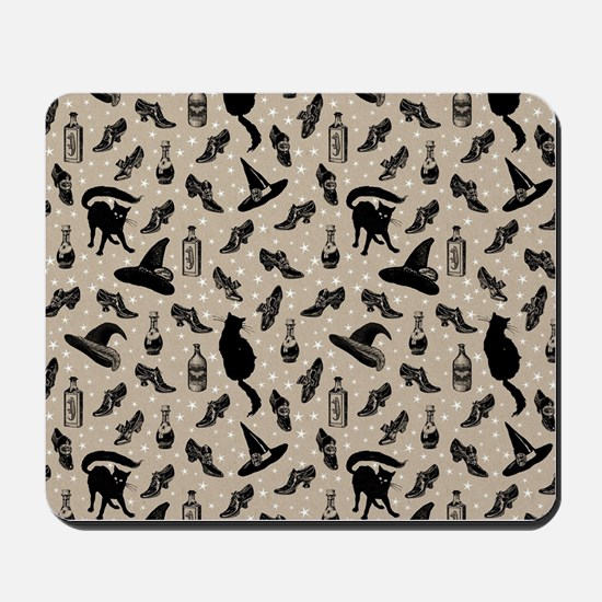 vintage witchy Mousepad