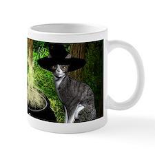Witch Cats And Cauldron Mugs