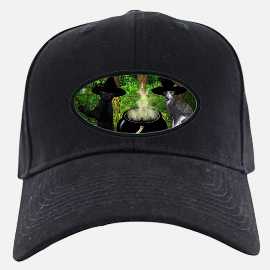 Witch Cats And Cauldron Baseball Hat