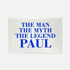 The Man Myth Legend PAUL-bod blue Magnets