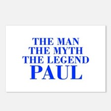 The Man Myth Legend PAUL-bod blue Postcards (Packa