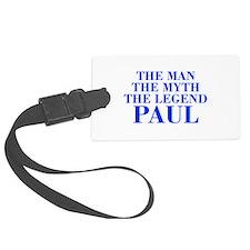 The Man Myth Legend PAUL-bod blue Luggage Tag