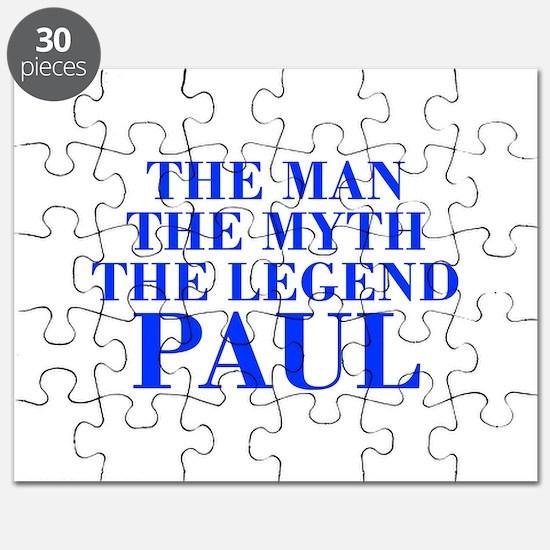 The Man Myth Legend PAUL-bod blue Puzzle