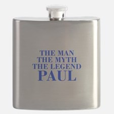 The Man Myth Legend PAUL-bod blue Flask