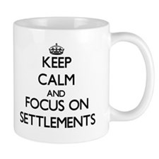 Keep Calm and focus on Settlements Mugs
