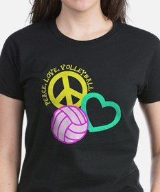 PEACE, LOVE, VOLLEYBALL Tee