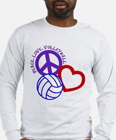 PEACE, LOVE, VOLLEYBALL Long Sleeve T-Shirt