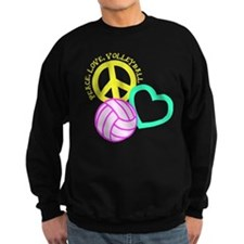 PEACE, LOVE, VOLLEYBALL Jumper Sweater