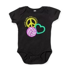 PEACE, LOVE, VOLLEYBALL Baby Bodysuit