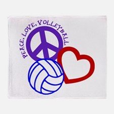 PEACE, LOVE, VOLLEYBALL Throw Blanket