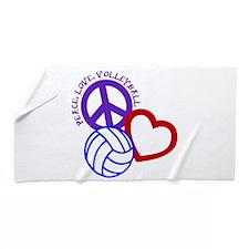 PEACE, LOVE, VOLLEYBALL Beach Towel