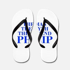 The Man Myth Legend PHILIP-bod blue Flip Flops