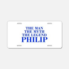 The Man Myth Legend PHILIP-bod blue Aluminum Licen