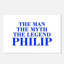 The Man Myth Legend PHILIP-bod blue Postcards (Pac