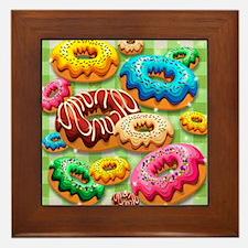 Donuts Party Time Framed Tile