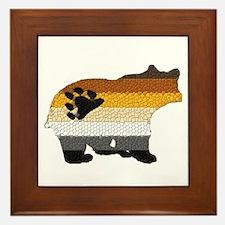 PRIDE BEAR W/MOSAIC STRIPES Framed Tile
