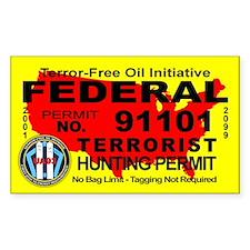 Terror-Free Oil Terrorism Hunting Permit