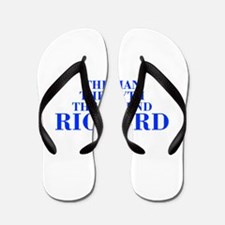 The Man Myth Legend RICHARD-bod blue Flip Flops