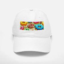 Donuts Party Time Baseball Baseball Baseball Cap