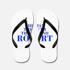 The Man Myth Legend ROBERT-bod blue Flip Flops