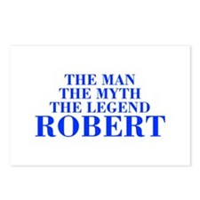 The Man Myth Legend ROBERT-bod blue Postcards (Pac
