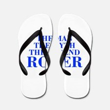 The Man Myth Legend ROGER-bod blue Flip Flops