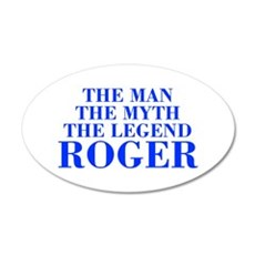 The Man Myth Legend ROGER-bod blue Wall Decal