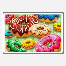 Donuts Party Time Banner