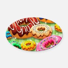 Donuts Party Time Oval Car Magnet
