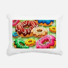 Donuts Party Time Rectangular Canvas Pillow